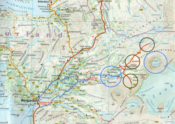 Voyages, Islande, Borgarnes, Cascades, Grottes