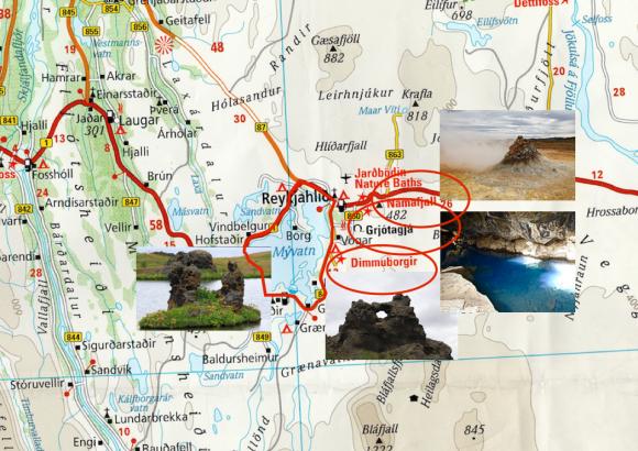 Voyages, islande, lac myvatn